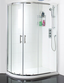 Twin Door Offset Quadrant Shower Enclosure 900 x 800mm - SE058