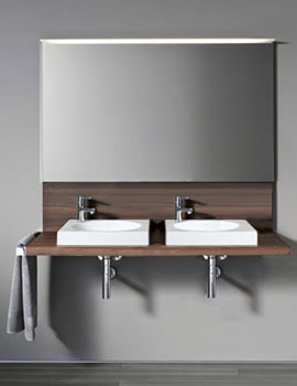 Related Delos White Variable Console-Back Panel For Countertop Basin - DL043C08585