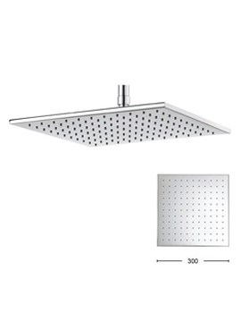 Zion 300mm Square Fixed Shower Head - FH330C