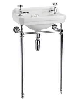 Edwardian 510mm Cloakroom Basin And Wash Stand - B8 - T21A