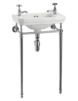 Burlington Victorian 510mm Cloakroom Basin And Wash Stand - B9 - T21A
