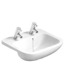 Profile 2 Taphole Semi Countertop Basin - S249501