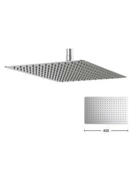 Glide 400 x 250mm Rectangular Shower Head - FH425SR+