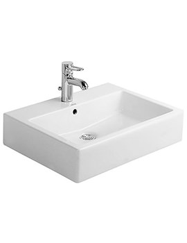 Vero White 600 x 470mm 1 Tap Hole Basin - 0454600000