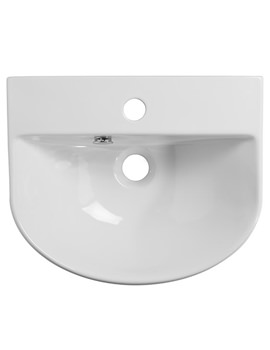 Zest Slimline Semi Countertop Basin 435mm - Z2SCBAS