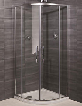 Deluxe 8 Double Door Shower Quadrant 800 x 800mm - RAK8QU800