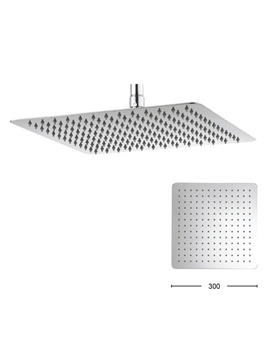 Glide 300mm Square Fixed Shower Head - FH330SR+