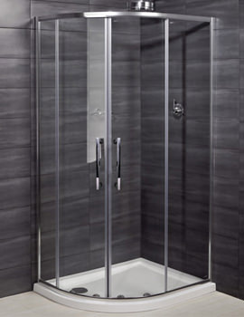 Deluxe 8 Double Door Offset Shower Quadrant 1200 x 800mm