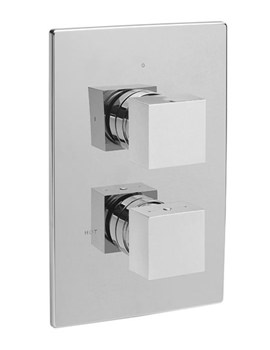 Square Concealed Thermostatic ABS Wall Plate Valve - 83021