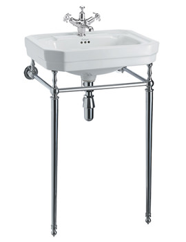 Victorian Medium Basin With Chrome Regal Stand And Extension Kit
