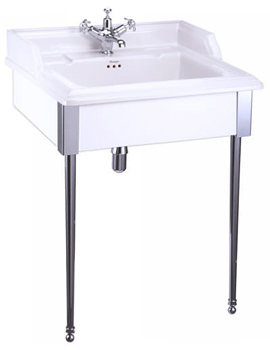 Related Burlington Classic 65cm Basin With White Designer Stand - B15 - T61 - T57