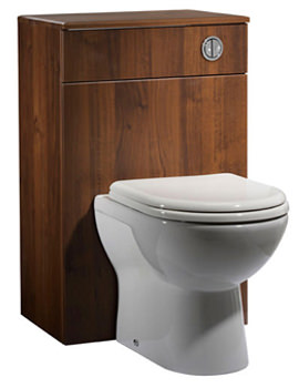 Related Tavistock Opal 500mm Walnut Back To Wall WC Unit And Worktop-OPBTW5AW