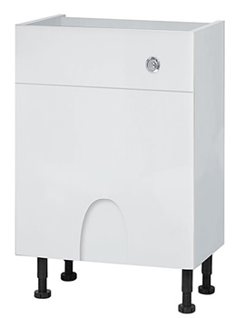 Related Balterley Euro White Gloss 600mm Cistern Base Cabinet With Legs