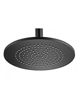 Aluminium Round Black Shower Head 240mm - 55910