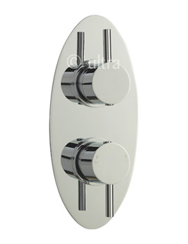 Related Ultra Quest Oval Twin Concealed Thermostatic Shower Valve - QUEV01