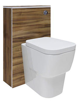 Memoir Walnut 500mm Back To Wall WC Unit - FME013
