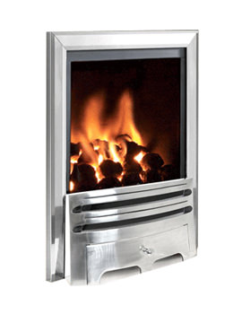 Flavel Kenilworth Contemporary Power Flue Gas Fire Silver - FVPC37MN