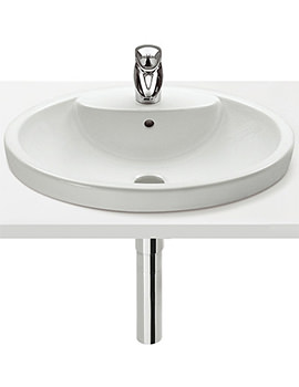 Senso Semi Countertop Basin 580mm With One Tap Hole-327515000