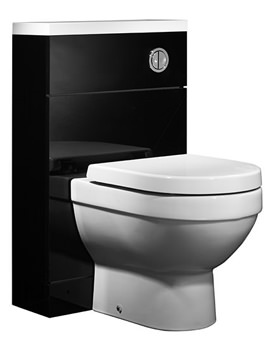 Kobe 500mm Black Back To Wall WC Unit And Worktop - K5BTWBK