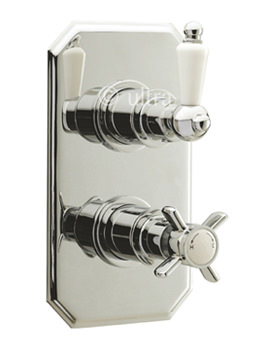 Beaumont Twin Concealed Traditional Thermostatic Shower Valve
