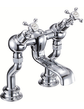 Burlington Claremont Regent Deck Mounted Angled Bath Filler Tap - CLR25