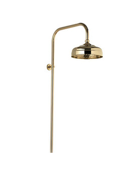 Exposed Fixed Height Shower Drencher Head Gold - 581.04