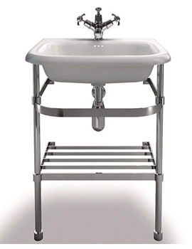 Traditional Small Roll Top Basin With Stand 550mm