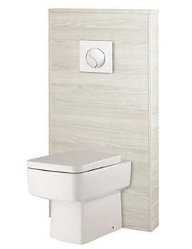 Related Hudson Reed Horizon White Sawn Oak Slimline WC Unit - CAB245