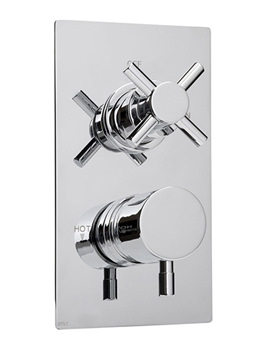 DTV2 Cross And Lever Vertical Shower Valve - CRLVDUAT08