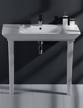 Opulence His Basin With Click Clack Waste And Legs 1000mm White