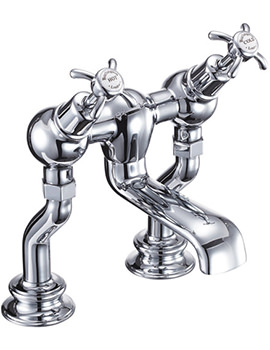 Burlington Anglesey Regent Deck Mounted Angled Bath Filler Tap - ANR25