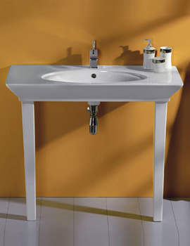 Opulence Hers Basin With Click Clack Waste And Legs 1000mm White