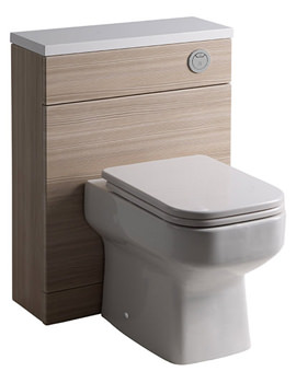 Breathe Pale Driftwood 600mm Back To Wall WC Unit