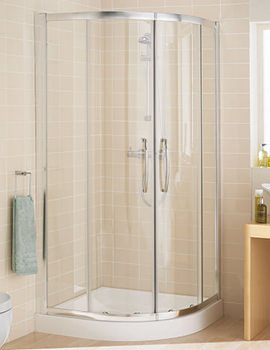 Single Rail Quadrant Shower Enclosure 800 x 1850mm