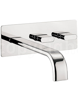 Related Crosswater Edge Wall Mounted Bath Filler Tap Chrome - EE321WC