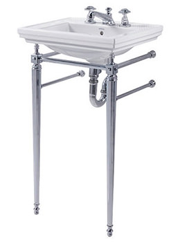 Astoria Deco Cloak Basin With Stand And Towel Rack