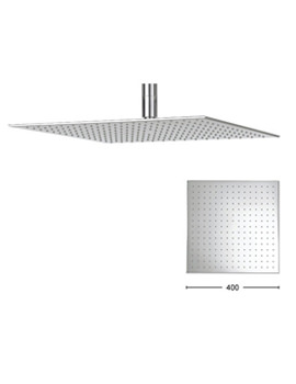 Zion 400mm Square Fixed Shower Head - FH440C