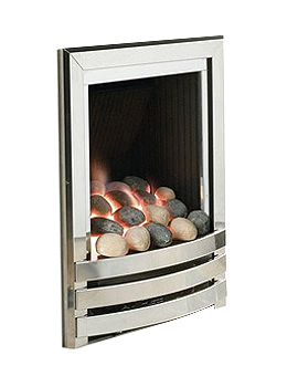 Flavel Linear Power Flue Gas Fire No Chimney Silver-Pebble - FVPPU0MN