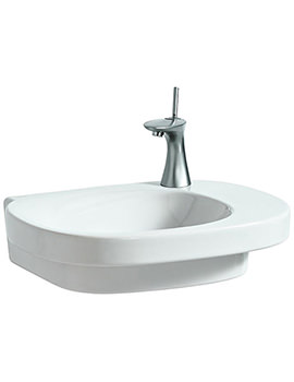 Mimo 55x44cm Asymmetrical Undersurface Ground Basin 0 Tap Hole