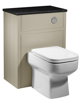 Hampton 600mm Back To Wall WC Unit Mocha - HAM600BTW.MC