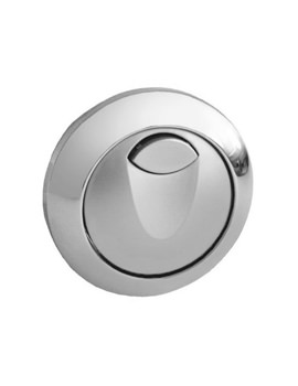 Eau2 Dual WC Flush Air Button Chrome Plated - 38771000