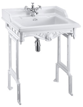 Classic 650mm Basin With White Aluminium Stand