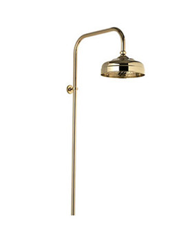 Fixed Height Exposed Shower Drencher Head Gold - 551.04