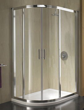 Geo 6 Offset Quadrant Shower Enclosure 1200 x 900mm