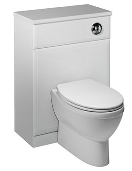 Valencia 500mm White Back To Wall WC Unit - V579BTW