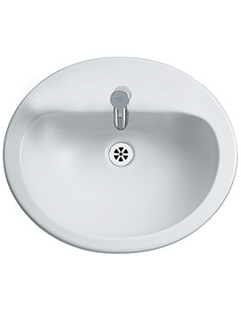 Orbit 21 Counter Top 550mm 1 Tap Hole Basin With Overflow