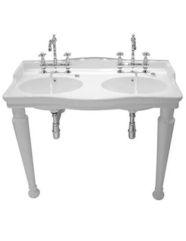 Related Silverdale Hillingdon 1230mm 3 Taphole Console Basin With Leg Set