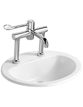 Orbit 21 Counter Top 550mm 2 Tap Hole Basin
