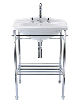 Drift 625mm Square Basin With Chrome Stand