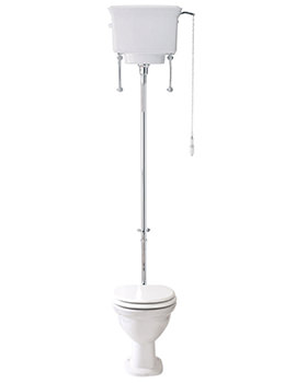 Balmoral Low Level Pan High Level Cistern 690mm - BA043W